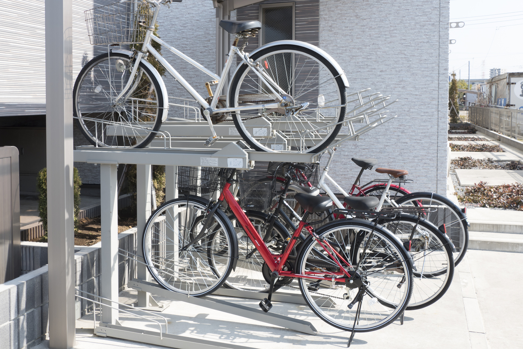 自転車と歩行者